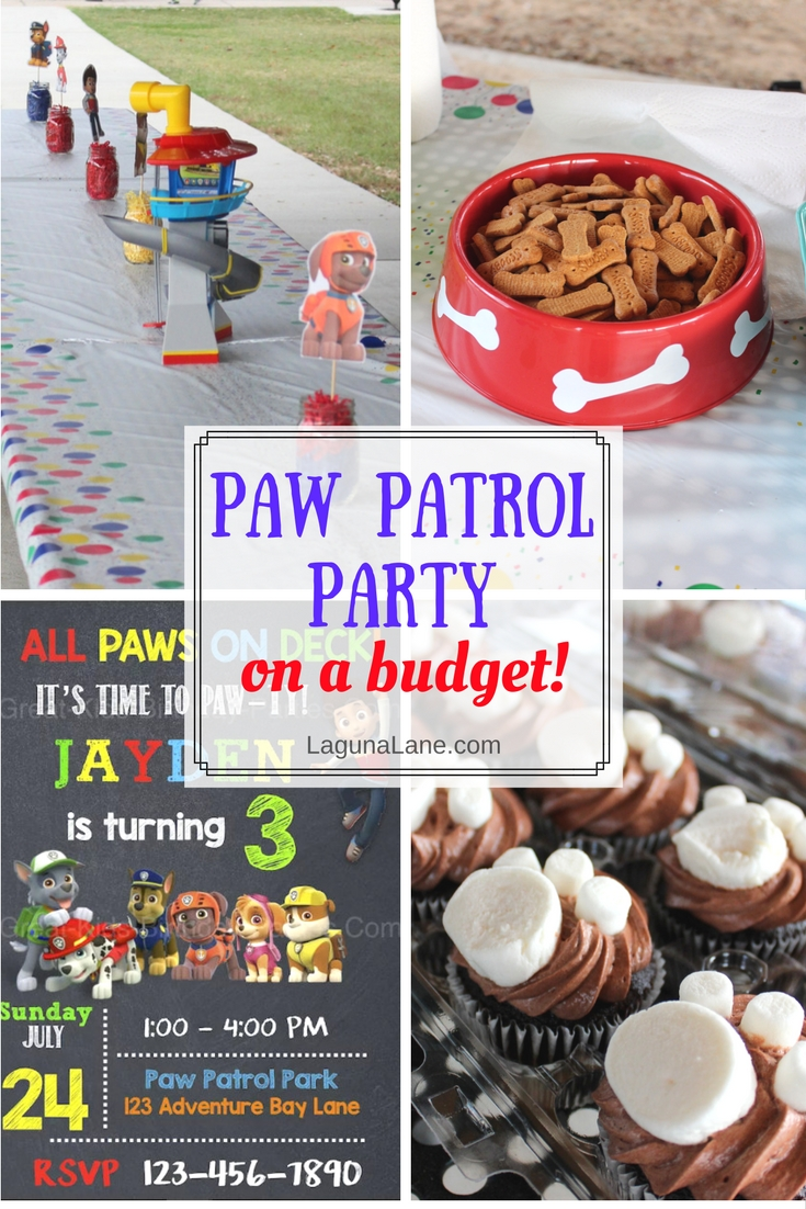 Enjoyable Paw Patrol Party For Kids On A Budget Laguna Lane Download Free Architecture Designs Scobabritishbridgeorg