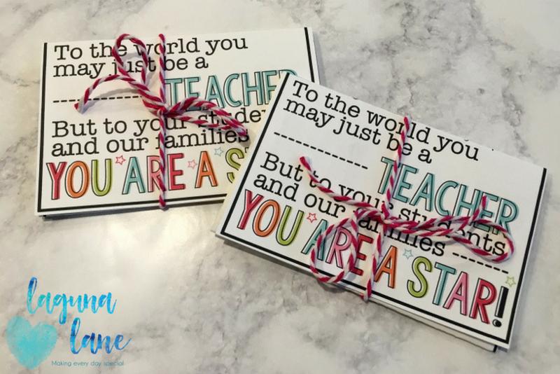 Teacher Gift Card Bouquet Thank You Card Lagunalane Laguna Lane